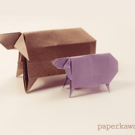 Chinese Rabbit Origami via @paper_kawaii