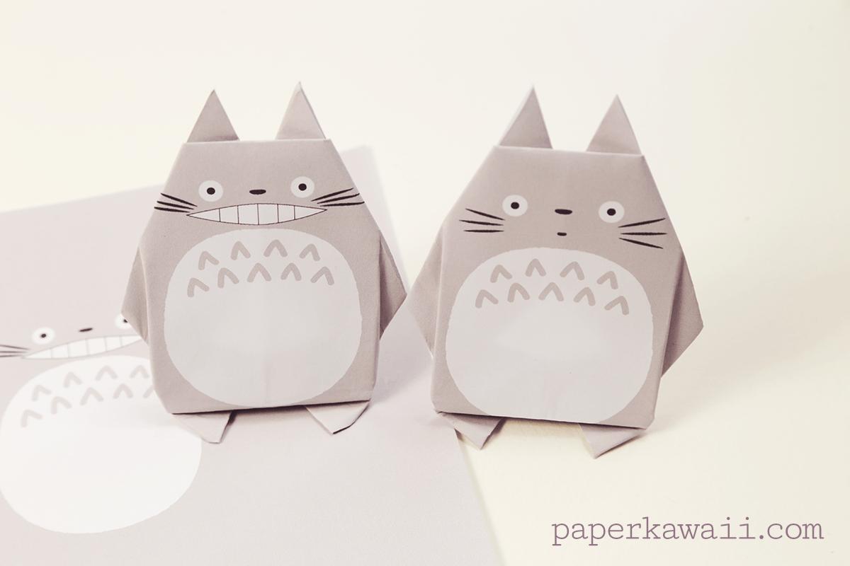 Origami Totoro Tutorial & Free Printable Paper - Paper Kawaii - photo#33
