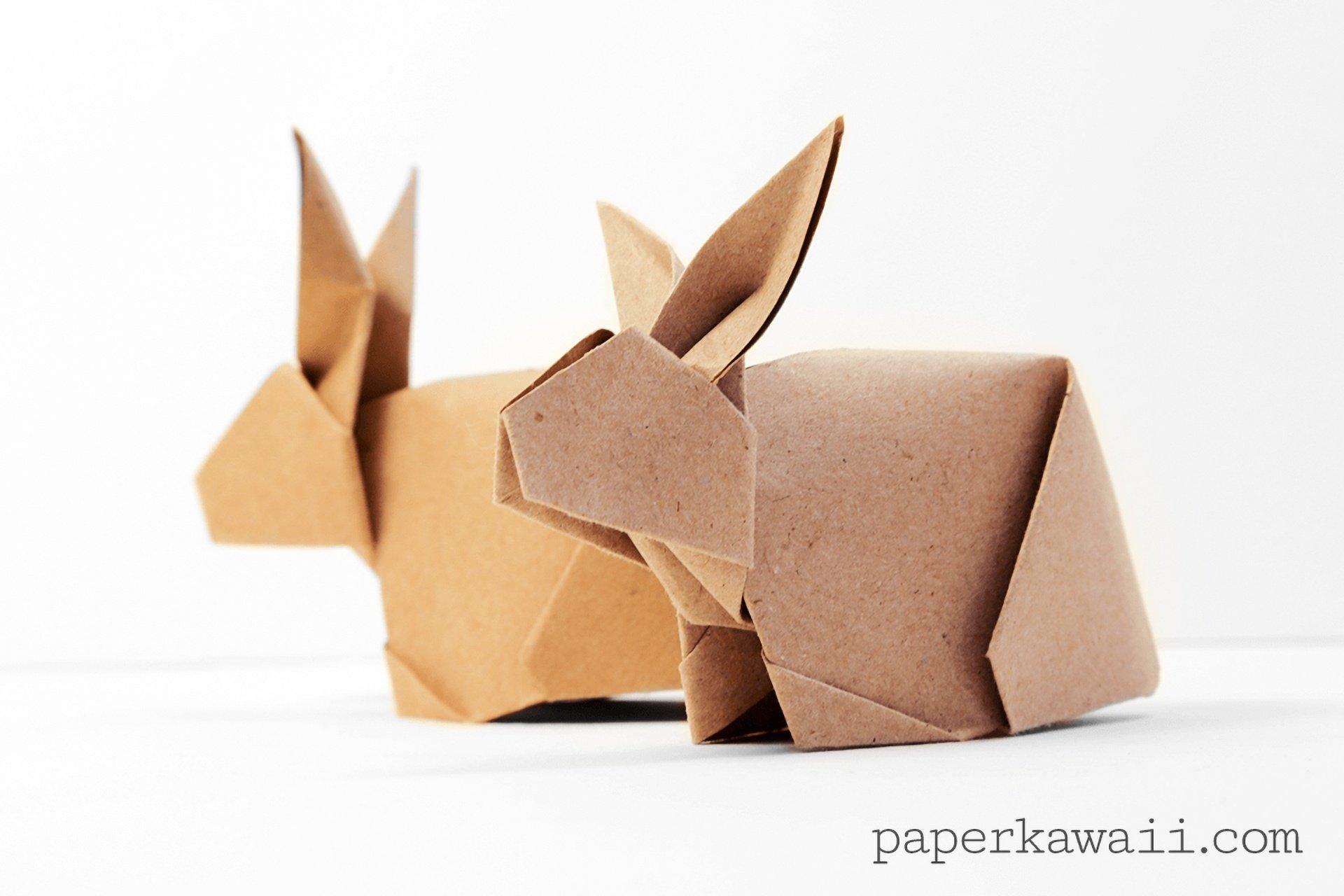 Origami Bunny Rabbit Tutorial - Paper Kawaii