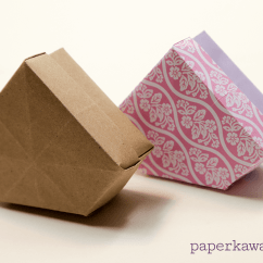 Folding Origami Box Diagram Hvac Fan Relay Wiring Gem And Lid Tutorial Paper Kawaii