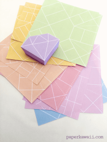 Origami Gem Crystal Box Paper Kawaii 03