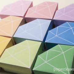 Folding Origami Box Diagram 2006 Ford Focus Engine Free Printable Crystal 43 Tutorial Paper Kawaii