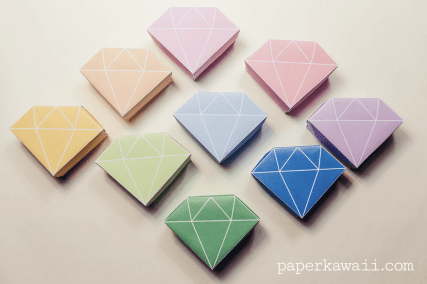 Free Printable - Origami Crystal Box + Tutorial via @paper_kawaii