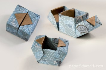 Origami Hinged Box Video Tutorial Origamibox Instructions Crafts