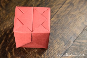 Origami Hinged Box Video Tutorial #origami #origamibox #tutorial #instructions #crafts #diy