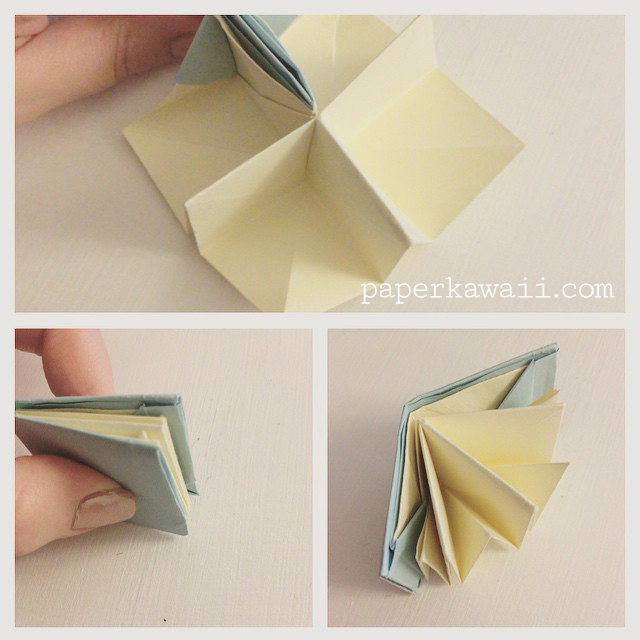 Paper Book Cover Directions ~ Origami popup book video tutorial paper kawaii