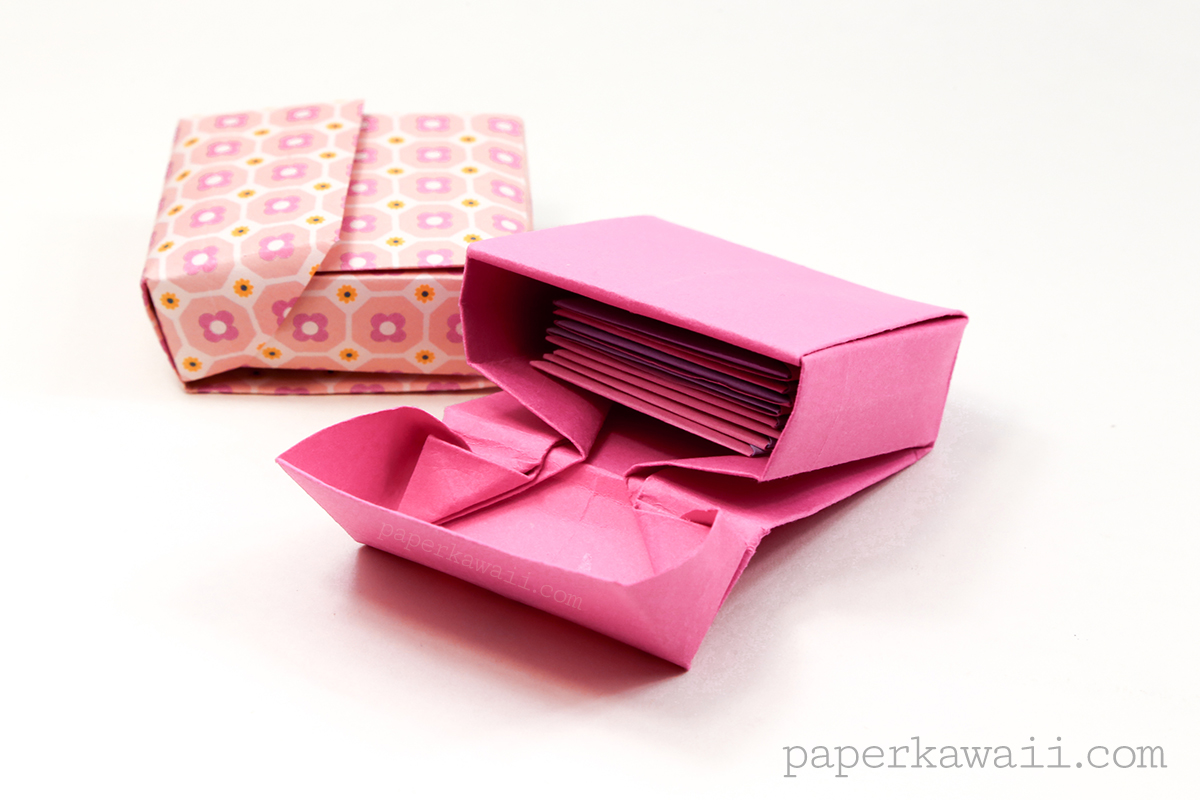 Origami flip top box instructions paper kawaii jeuxipadfo Images