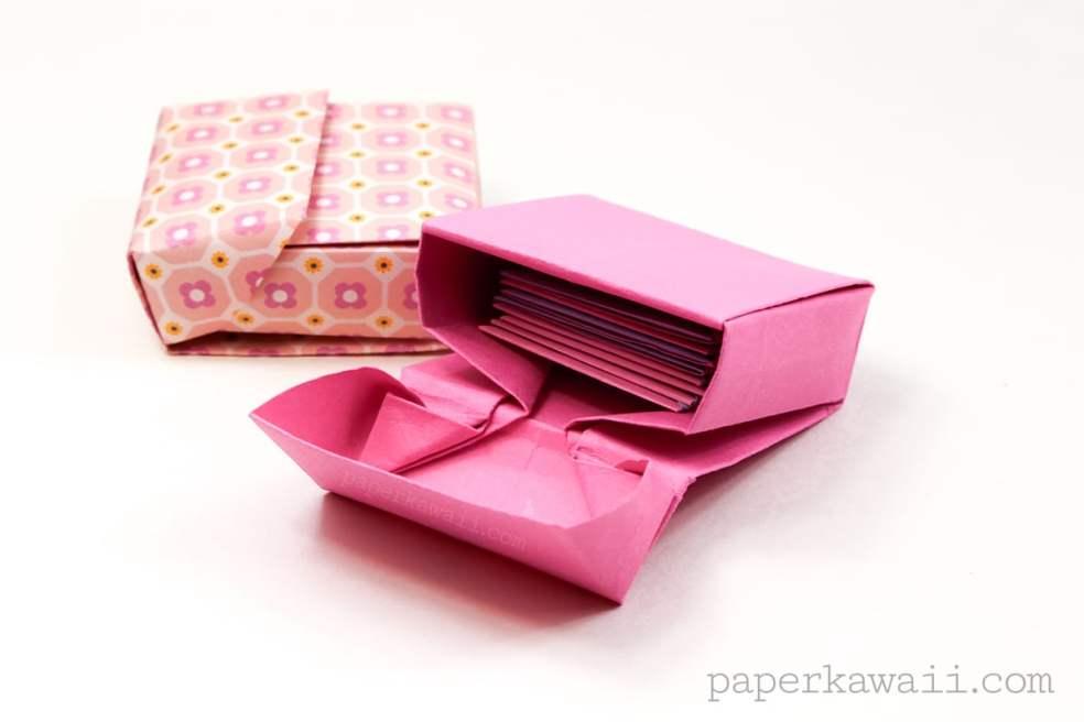 Origami Flip Top Box Instructions via @paper_kawaii