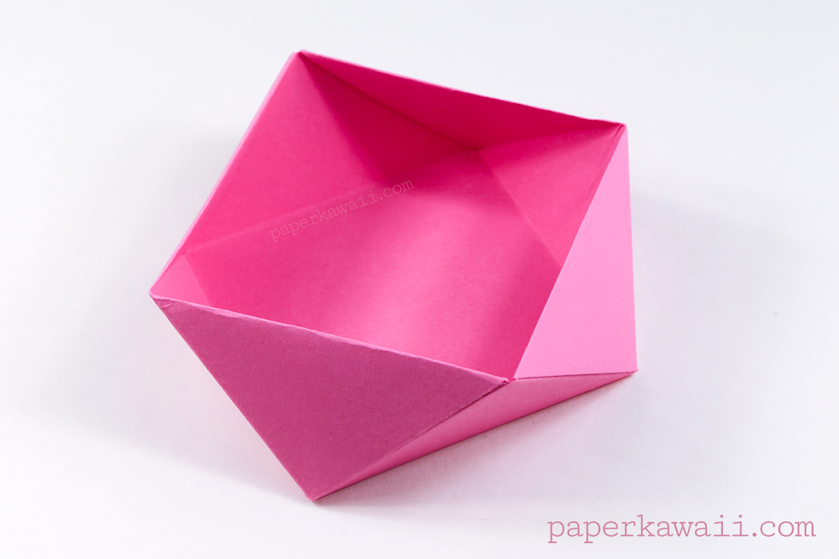 Traditional Origami Square Bowl / Box Instructions - photo#19
