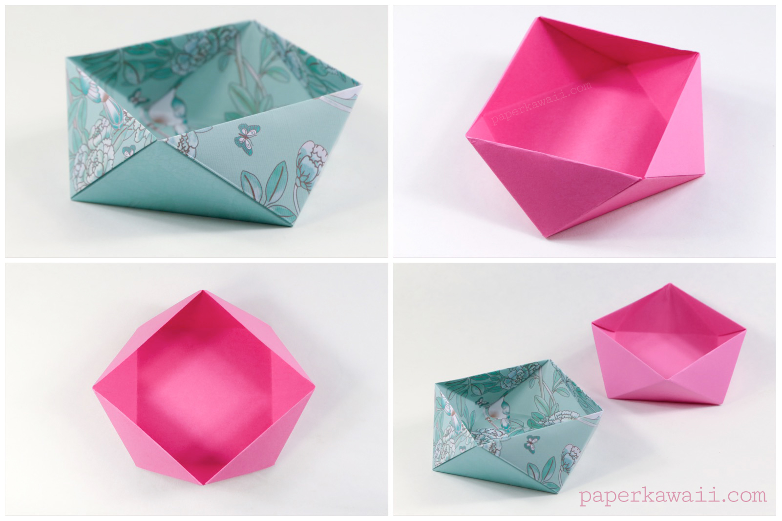 Traditional Origami Square Bowl / Box Instructions - photo#42