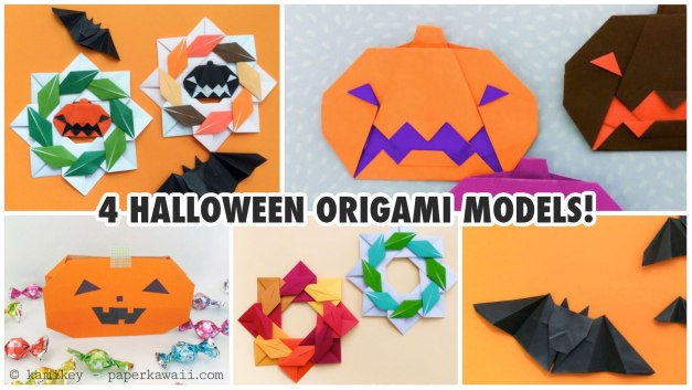 4 Cute Halloween Origami Models!