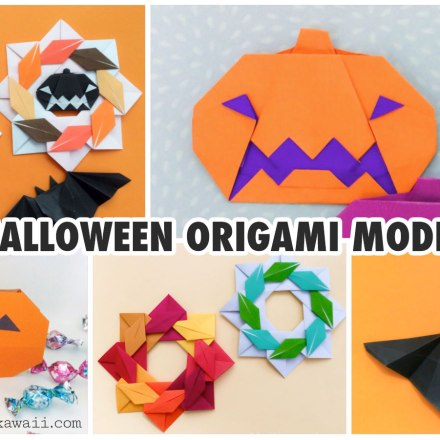 Origami Fall Leaves via @paper_kawaii