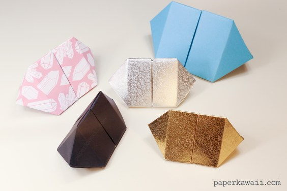 Origami Bipyramid Gem Box Instructions