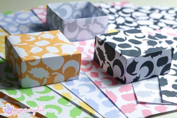 Halloween Printable Origami Paper