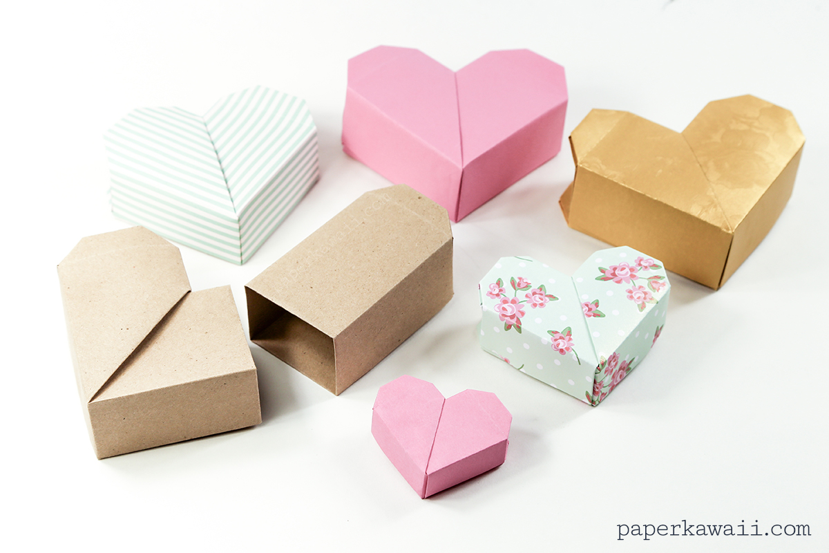 Origami Heart Box Video Instructions - Paper Kawaii - photo#21