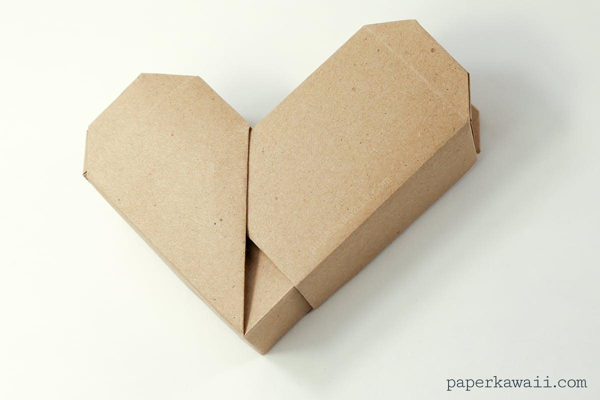 origami heart box instructions #diy #origami #cute #box #crafts