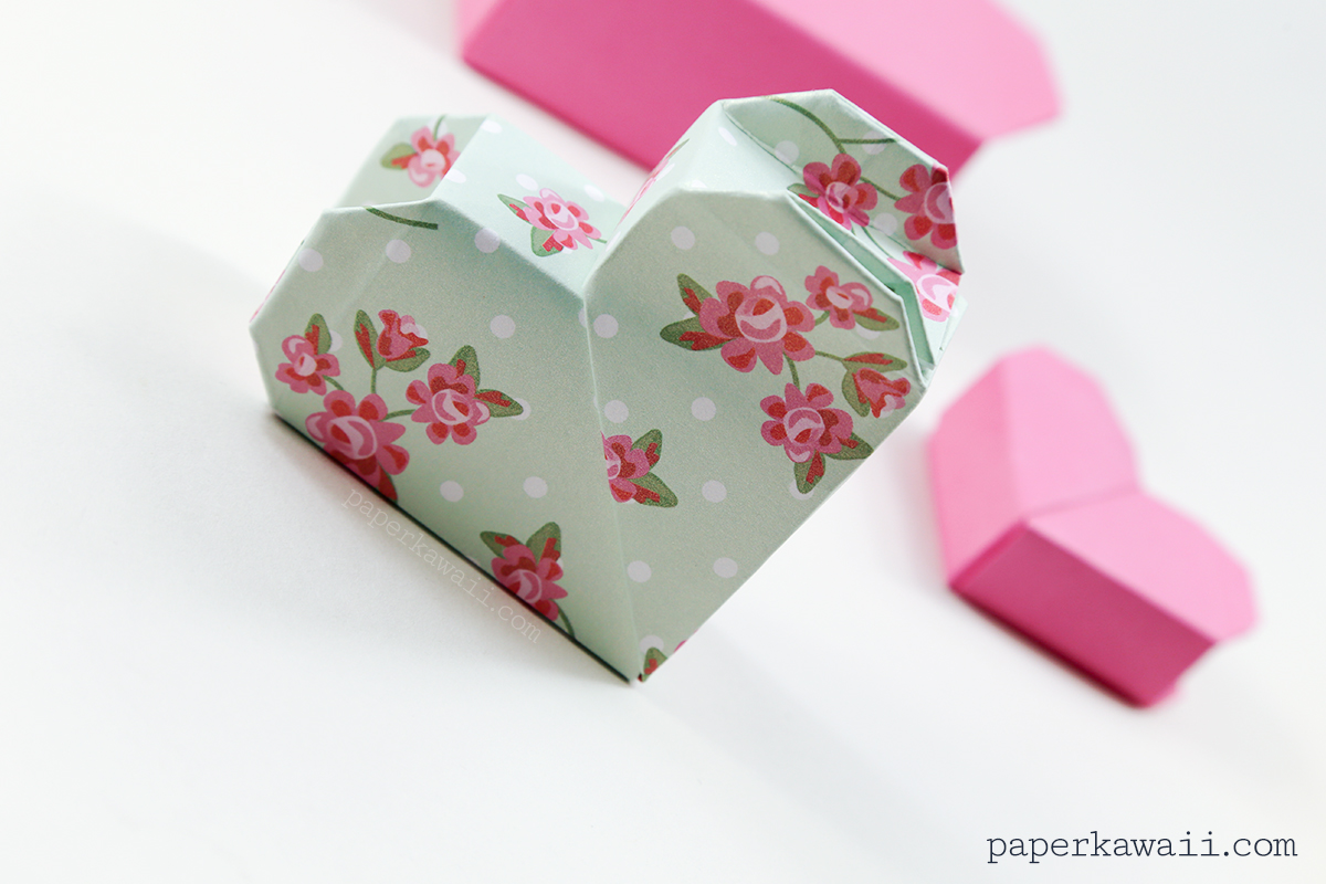 Origami Heart Box Video Instructions - Paper Kawaii - photo#10