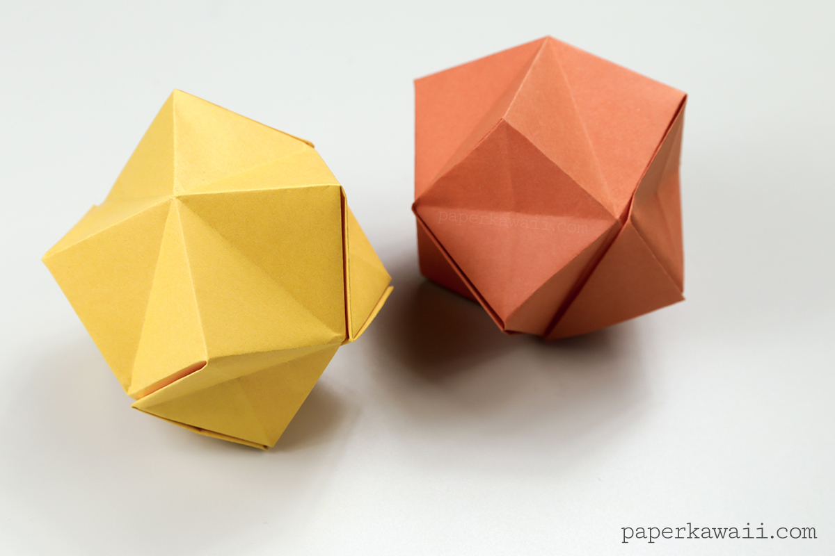 origami stellated octahedron    inflatable star instructions