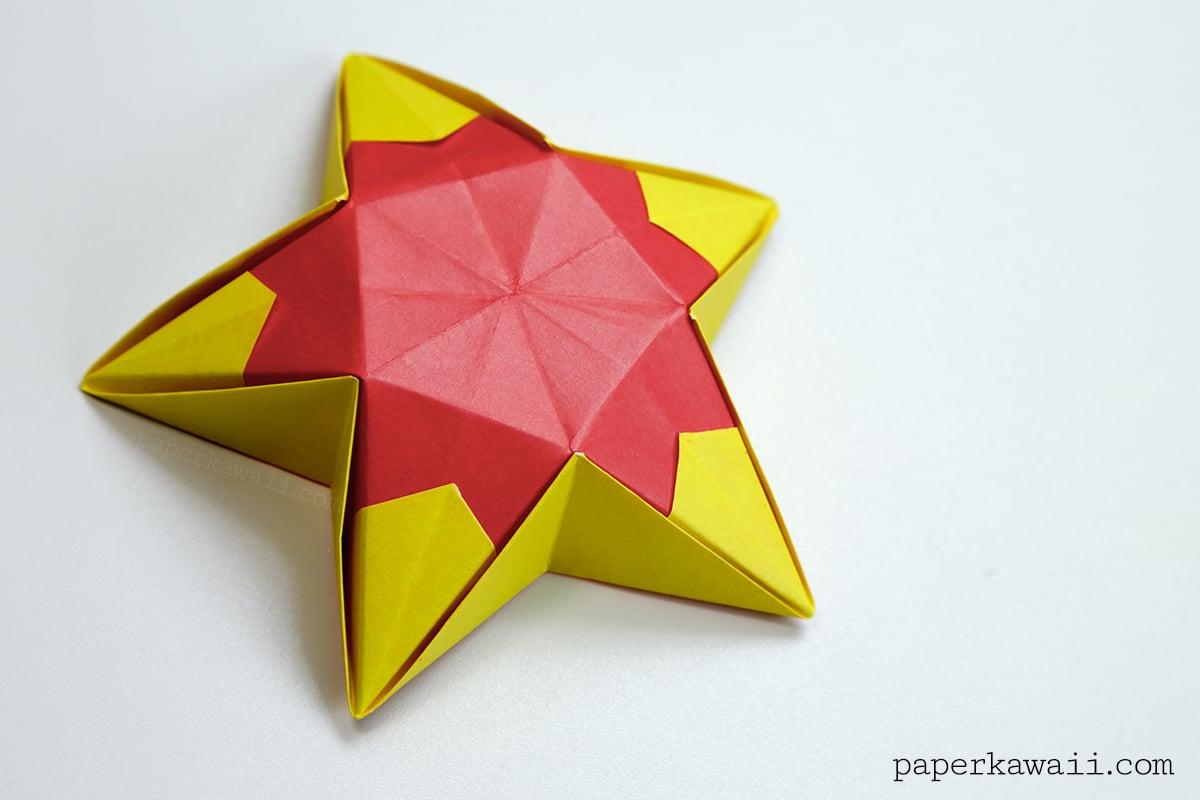 Origami Star Bowl Instructions - Paper Kawaii - photo#30
