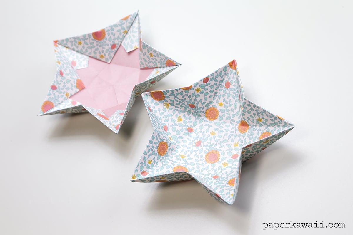 Origami Star Bowl Instructions Paper Kawaii Christmas Ornaments On A Diagram Via
