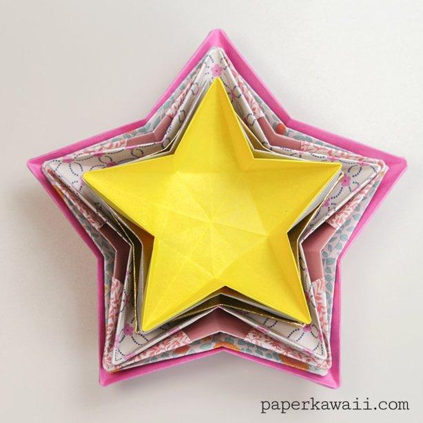 Origami Star Bowl Instructions via @paper_kawaii
