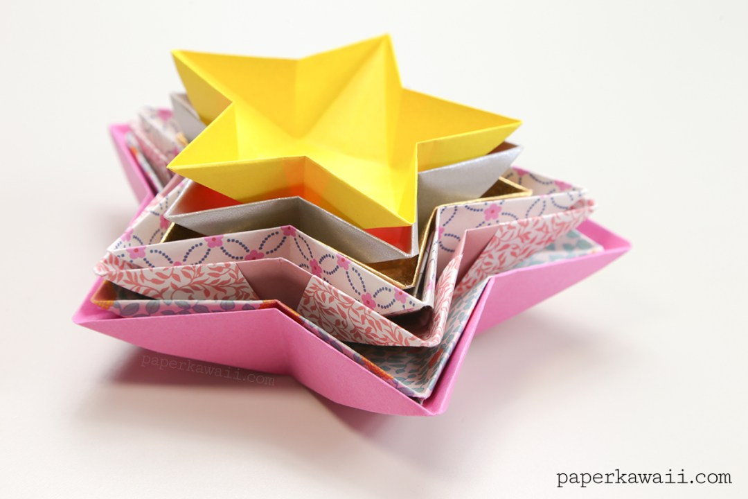 Origami Star Bowl Instructions Paper Kawaii