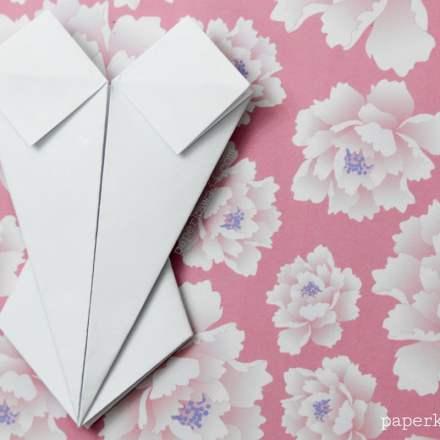 Origami Corset / Bodice Instructions - Paper Kawaii - #origami #corset #bodice #paper #crafts #diy #instructions