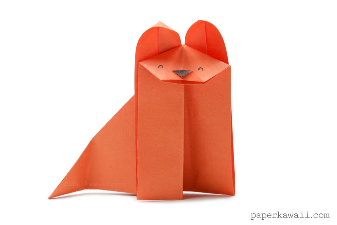 Easy Origami Fox - Video Tutorial via @paper_kawaii