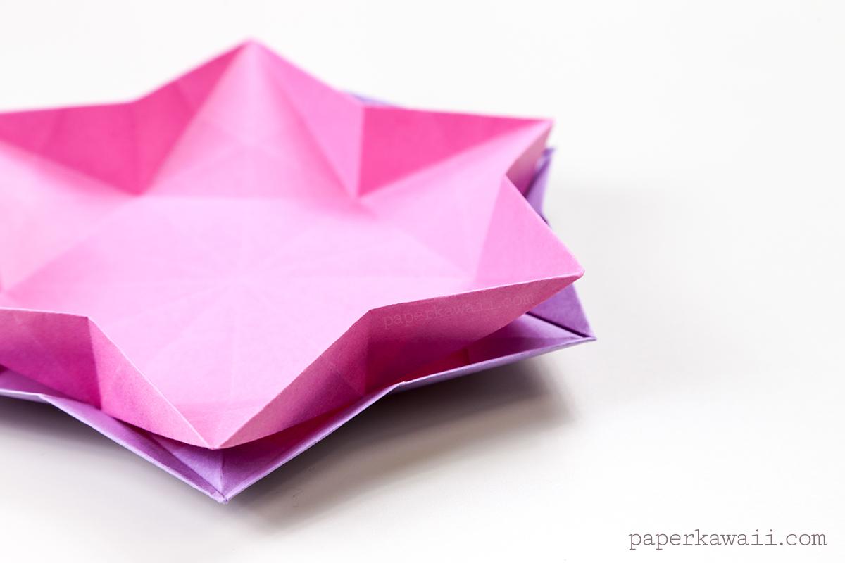 Hexagonal Origami Star Dish / Bowl Instructions - Paper Kawaii - photo#20