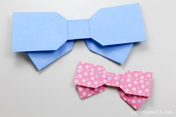 Origami Bow Instructions – Layered