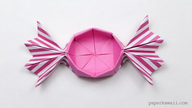 Round Origami Candy Box Instructions