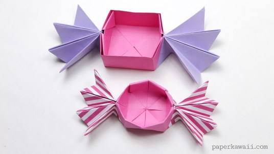 Round Origami Candy Box Instructions via @paper_kawaii