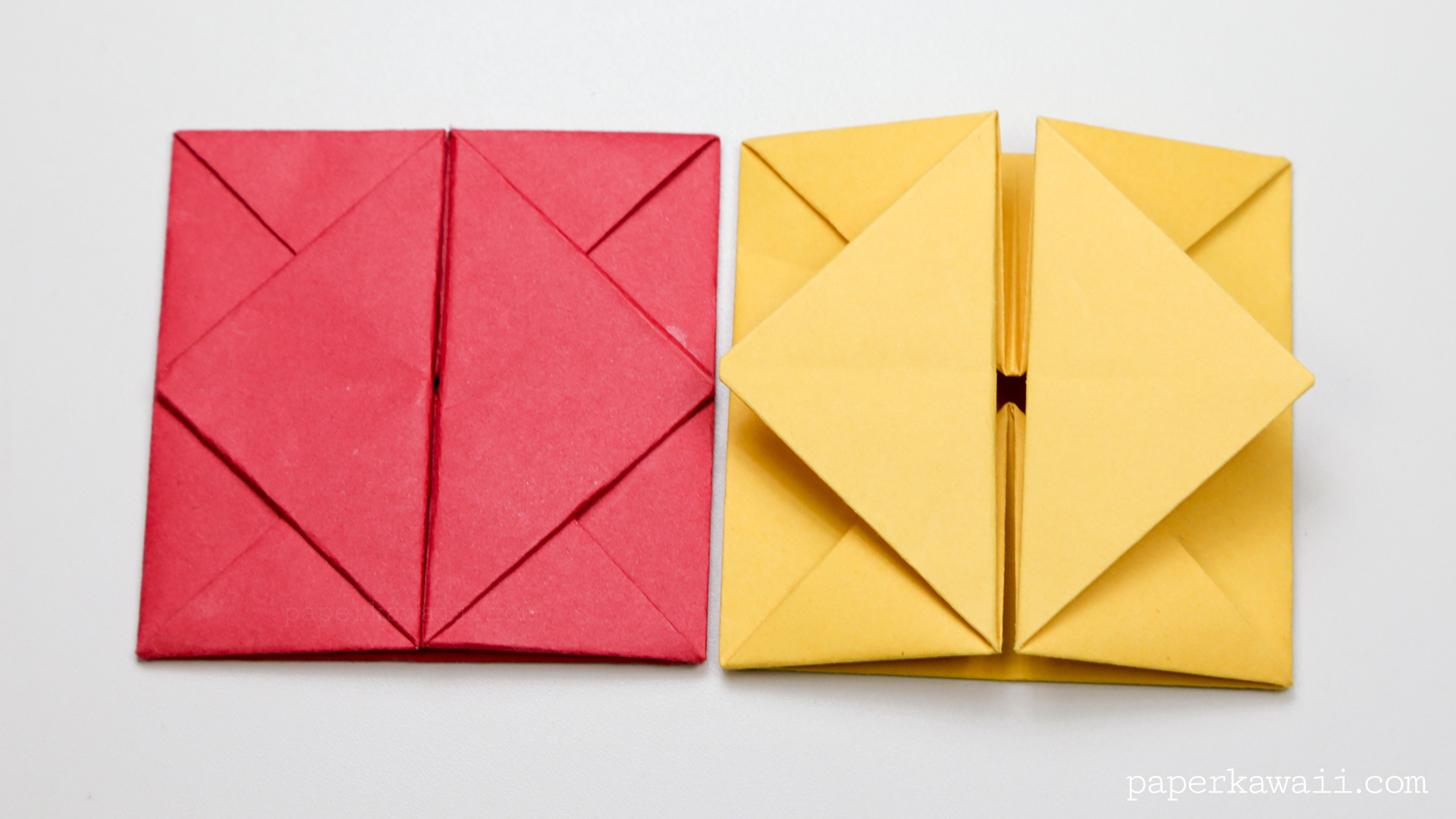 Origami bamboo letterfold folding instructions - Origami Envelope Box Instructions