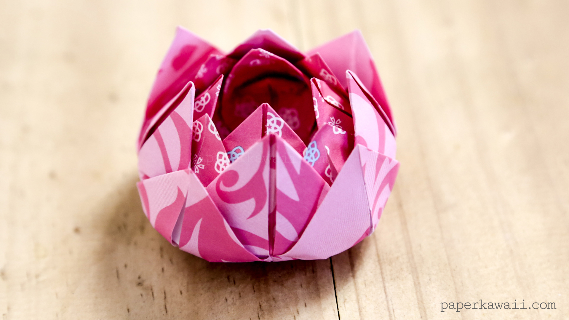 Traditional Origami Lotus Instructions Paper Kawaii