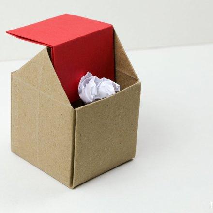 origami rubbish bin instructions #origami #rubbish #trash #diy