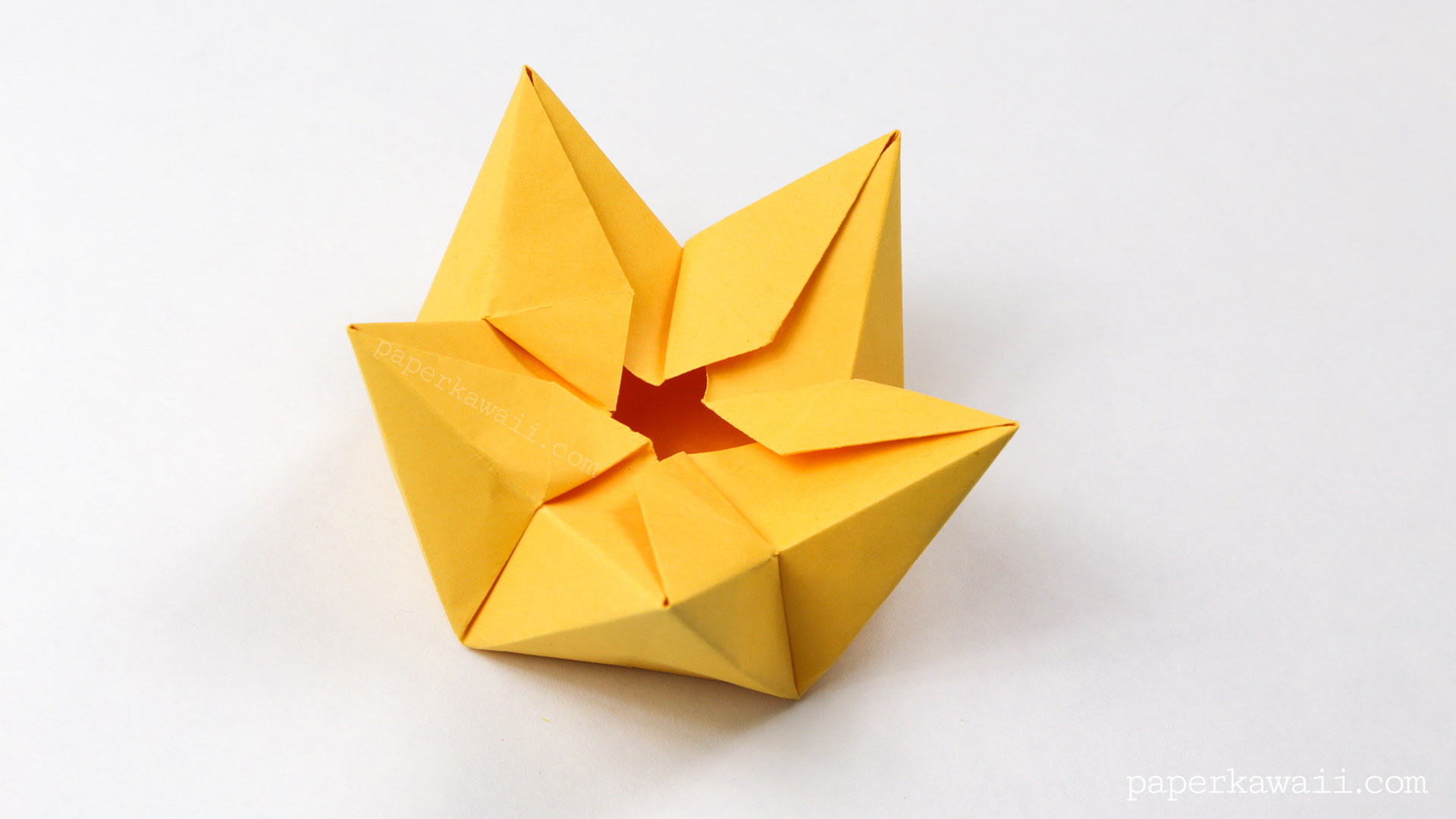 star flower origami diagram 2006 holiday rambler wiring flowers crown bowl tutorial