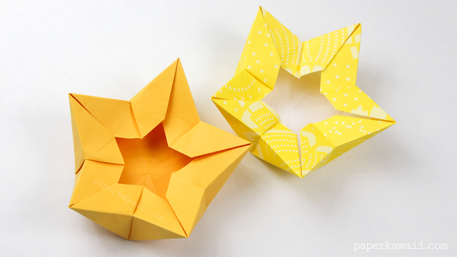 star flower origami diagram yamaha 200 blaster wiring crown bowl tutorial paper kawaii