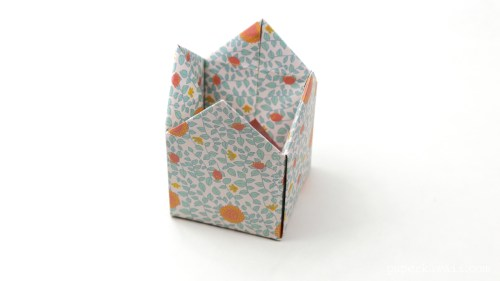 small resolution of tall origami crown box instructions via paper kawaii