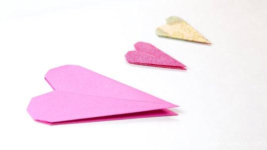 thin origami heart instructions