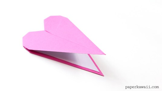 Thin Origami Heart Instructions via @paper_kawaii