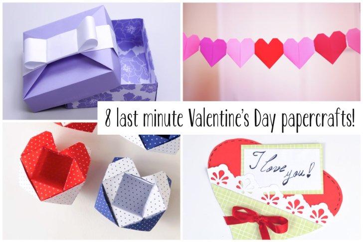 8 Last Minute Valentine's Day Craft DIYs via @paper_kawaii