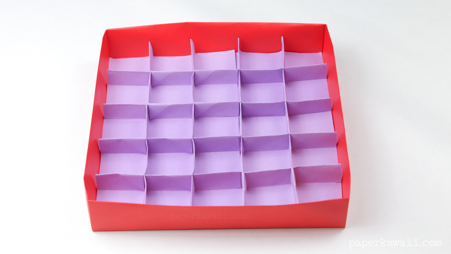 25 Section Origami Box Divider Instructions Paper Kawaii Science Fiction Diagrams