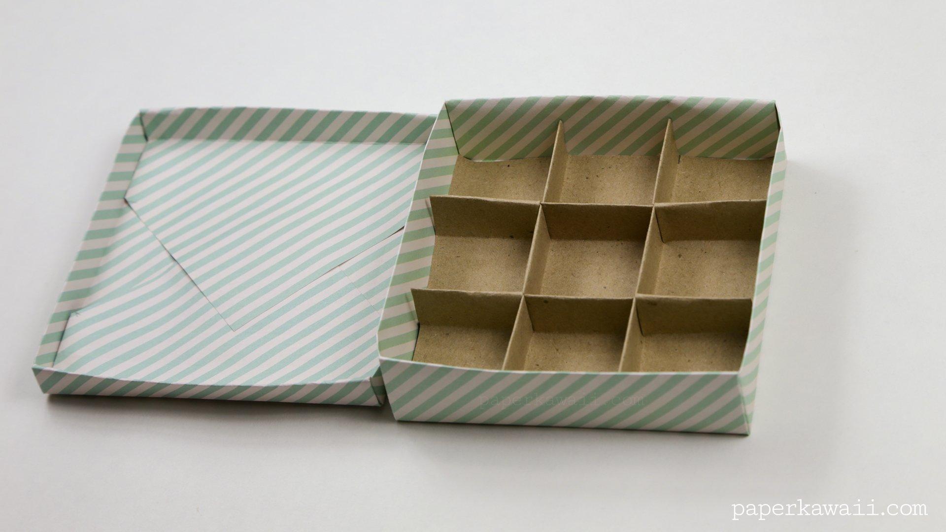 9 Section Origami Box Divider Instructions Paper Kawaii