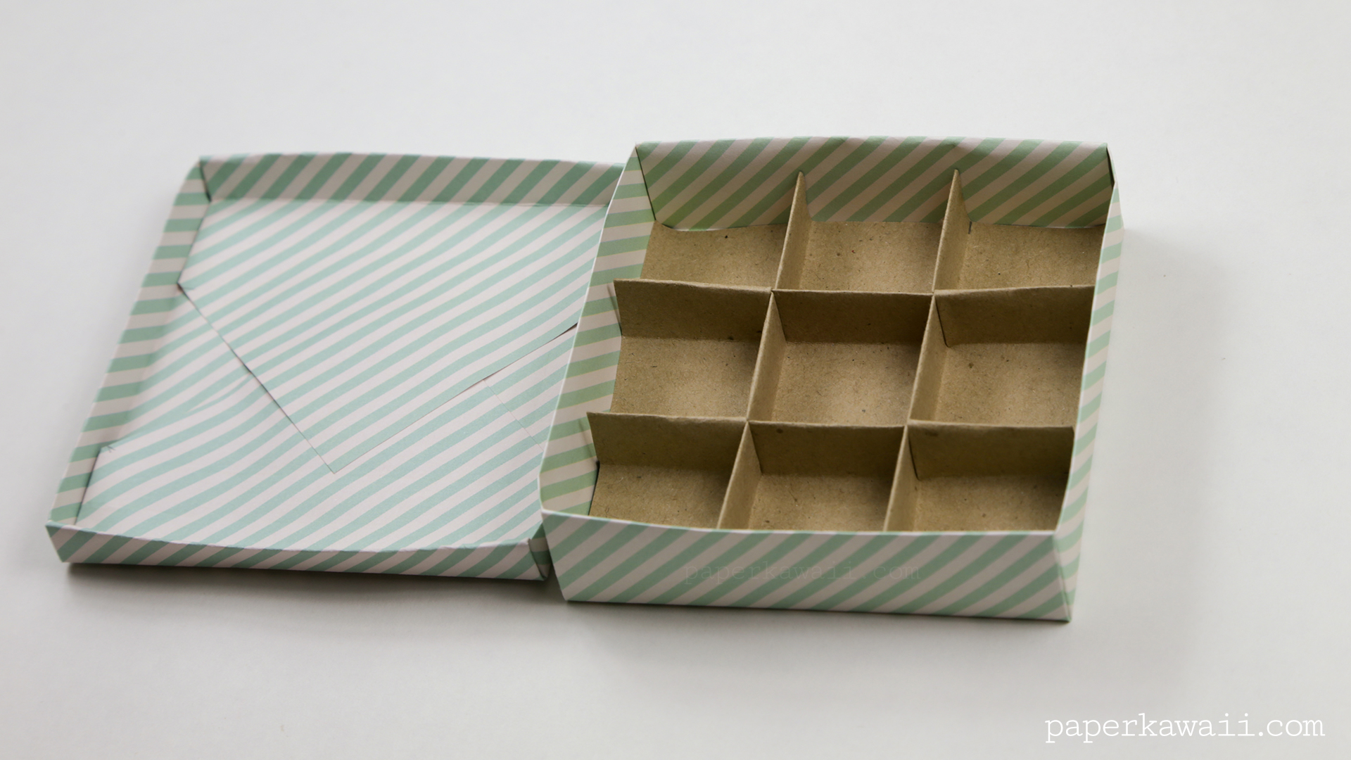 9 Section Origami Box Divider Instructions If You Are Making The Whole Tic Tac Toe Game Tutorial For Cube And Tiles