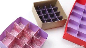 25 Section Origami Box Divider Instructions via @paper_kawaii