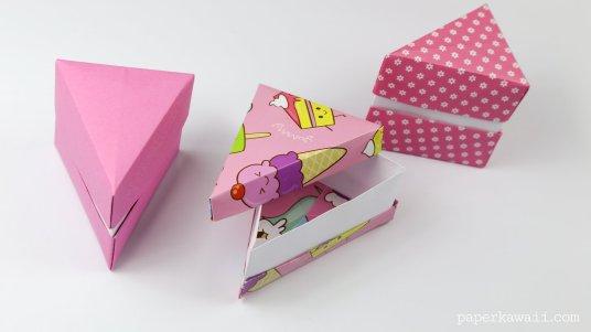 Origami Cake Slice Box