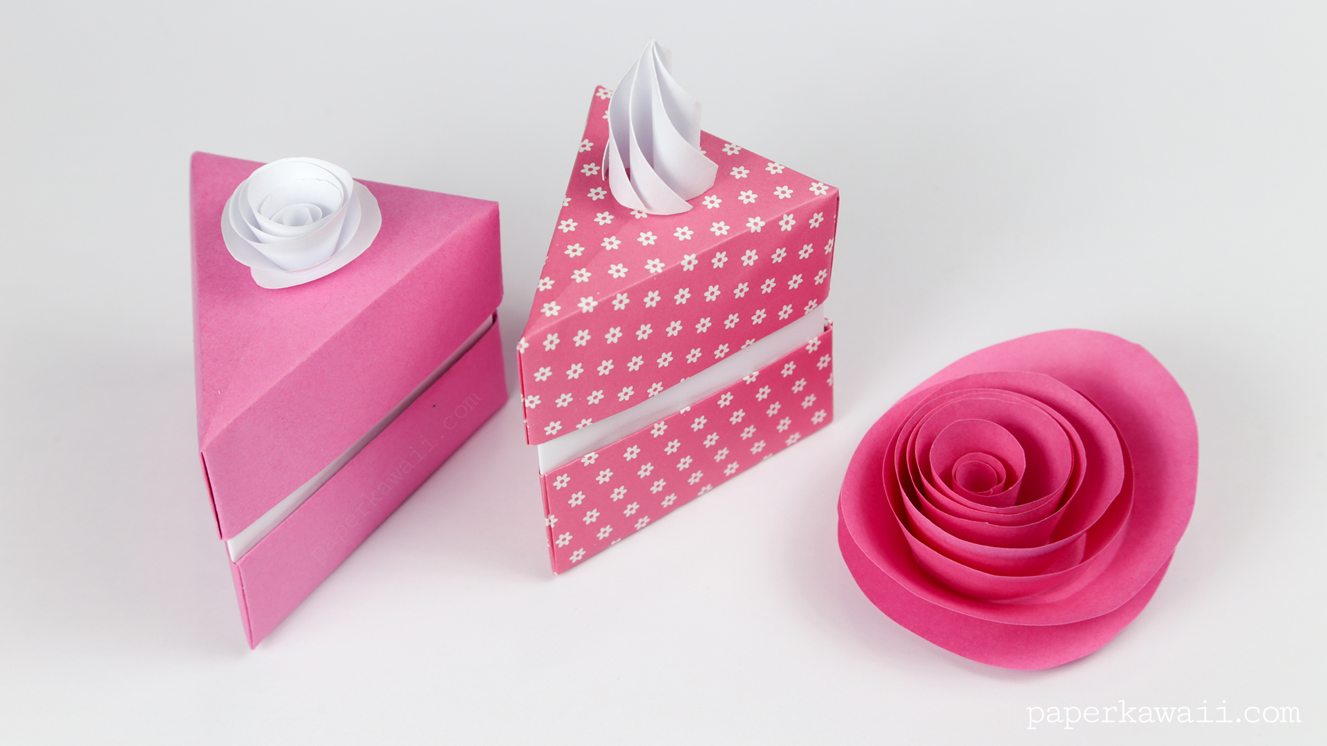 Origami Cake Slice Box Instructions The Kawaii Ice Cream And Cakes Paper Is Just Wrapping I Found Cut To Square