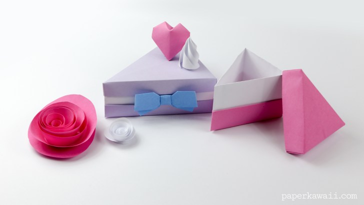 Elegant 3d origami Birthday Cake Instructions | Birthday card pop ... | 410x728