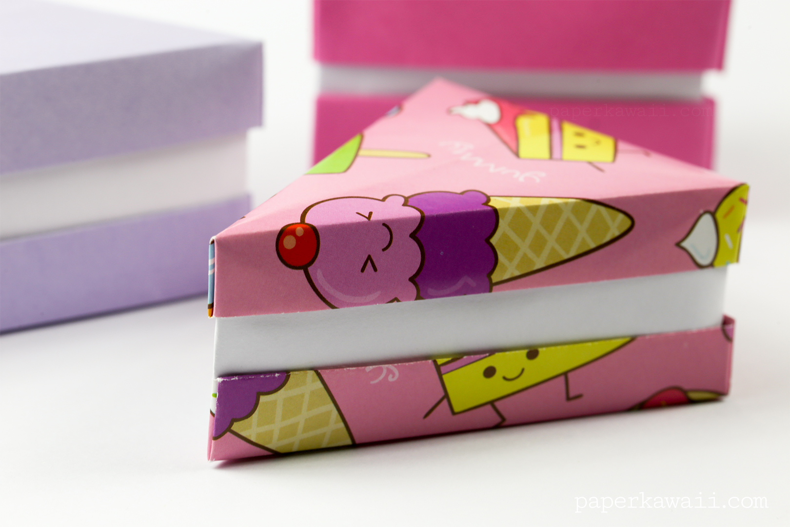 A Photo Tutorial Is Available For The Taller Cake Box On Origami Tutorials Page