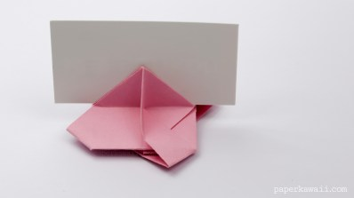 Origami Card Holder Instructions